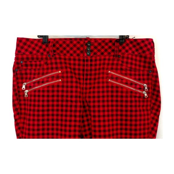 torrid Denim - Torrid Jeans Jeggings 24 Red Black Gingham Plaid